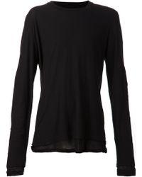 Kris Van Assche - Double Layered T-Shirt - Lyst