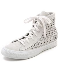 Converse Woven High Top Sneakers - Powder - Lyst