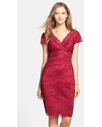 JS Collections Layered Lace Sheath Dress - Lyst
