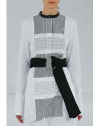 Edun Henley Shirt Dress Optic White white - Lyst