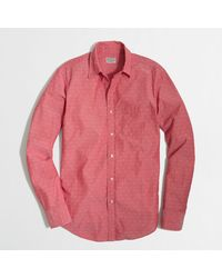 J.Crew Factory Chambray Shirt in Jacquard Dot - Lyst