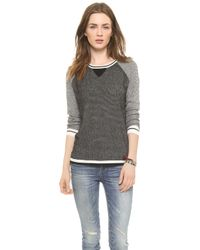 Madewell Jamie Stitch Blocker Pullover True Black - Lyst