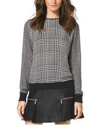 Michael Kors Houndstooth-Print Sweater - Lyst