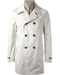 Fay Double Breasted Trench Coat - Lyst