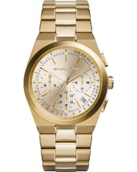 Michael Kors Channing Goldplated Watch Light Champagne - Lyst