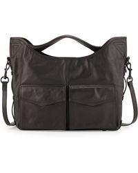 L.A.M.B. Glad Leather Shoulder Bag black - Lyst