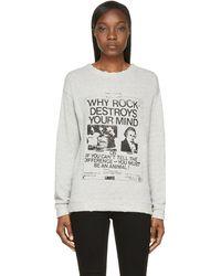 R13 Heather Gray Rock Vintage Sweatshirt - Lyst