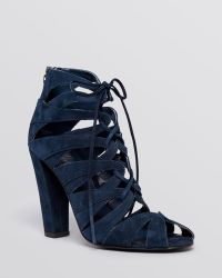 Delman - Lace Up Sandals - Darci High Heel - Lyst
