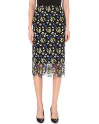 Erdem Safia Floral-lace Pencil Skirt - Lyst