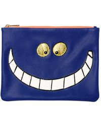 Essentiel - Cheshire Cat Faux Leather Pouch - Lyst