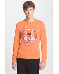 Kenzo Men'S Embroidered Crewneck Sweatshirt - Lyst