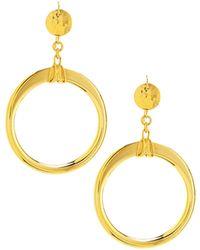 Jose & Maria Barrera | Open-circle Drop Earrings | Lyst