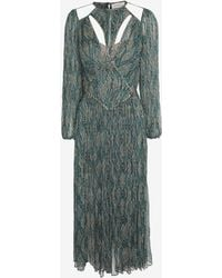 Zimmermann Cut Out Printed Peasant Maxi Dress - Lyst