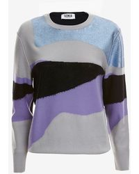 Sonia By Sonia Rykiel Metallic Intarsia Sweater - Lyst