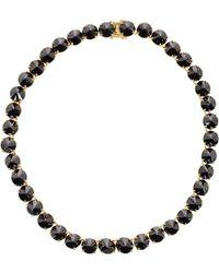 Fallon Black Classique Necklace - Lyst