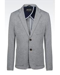 Emporio Armani Deconstructed Jacket In Interlock - Lyst