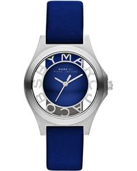 Marc By Marc Jacobs 34Mm Henry Skeleton Watch - Blue