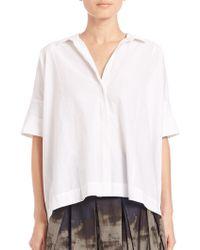 Donna Karan New York | Cotton Camp Shirt | Lyst