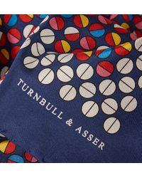 Turnbull & Asser Circle-Print Silk Pocket Square - Lyst