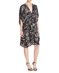 Issa | Abstract-print Caftan Dress | Lyst