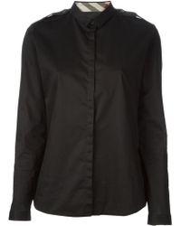 Burberry Brit Shoulder Epaulette Shirt - Lyst