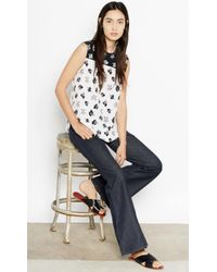 Equipment Kyle With Contrast floral - Lyst