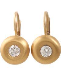 Linda Lee Johnson - Diamond And Gold Susanna Drop Earrings - Lyst