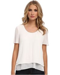 Rebecca Taylor Ss Crepe Top W Chain - Lyst