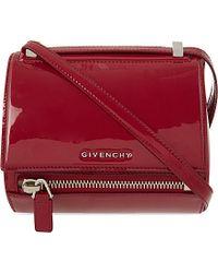 Givenchy Pandora Leather Mini Satchel Bag - Lyst