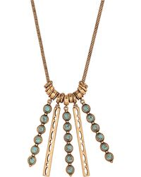 Lucky Brand - Heritage Holiday Turquoise Five-pendant Necklace - Lyst