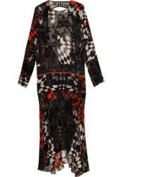 Preen Lk10 Karina Printed Ls Dress - Lyst