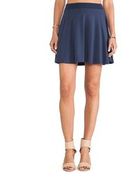 Splendid Blue Mini Skirt - Lyst