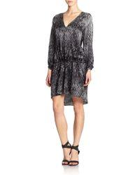 Joie Risette Printed Silk Dropwaist Dress - Lyst