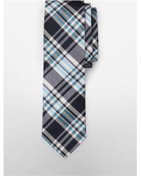 CALVIN KLEIN 205W39NYC - White Label Slim Plaid Silk Blend Tie - Lyst