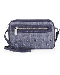 Marc By Marc Jacobs Sally Studded Denim & Leather Crossbody Bag blue - Lyst