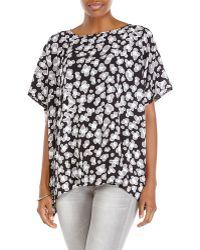 Diane von Furstenberg Black New Hanky Printed Silk Blouse - Lyst