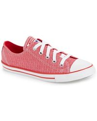 Converse Chuck Taylor All Star 'Dainty' Chambray Sneaker red - Lyst