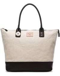 Will Leather Goods Beige Getaway Tote - Lyst