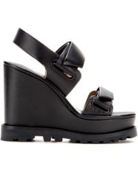 Marc By Marc Jacobs Street Stomp Leather Platform Sandals - Lyst