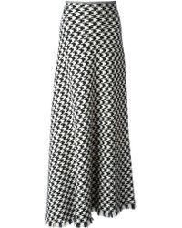 Yohji Yamamoto Houndstooth Skirt - Lyst