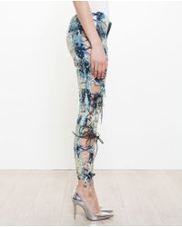Ashish - Studded Cut-out Jeans - Lyst