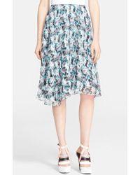 Prabal Gurung Abstract Print Silk Circle Skirt - Lyst