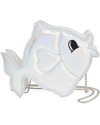 Nila Anthony - 'fish' Metallic Faux Leather Crossbody Bag - Metallic - Lyst