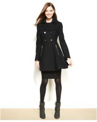 Laundry by Shelli Segal Double-Breasted Flared-Skirt Coat - Lyst