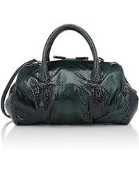 Zagliani - Python Mya Medium Shoulder Bag - Lyst