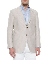 Peter Millar Solid Linen/Silk Sport Jacket - Lyst