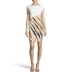 Escada Dolene Striated Dress - Lyst