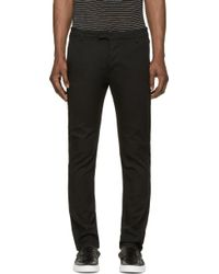 Diesel Black Gold Black Twill Patola Trousers - Lyst
