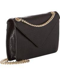 Barneys New York Croc-Stamped Mini Shoulder Bag - Lyst