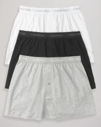 Calvin Klein Knit Boxers Pack Of 3 - Lyst